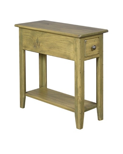 2 Day Designs Wing Back Side Table, Fern
