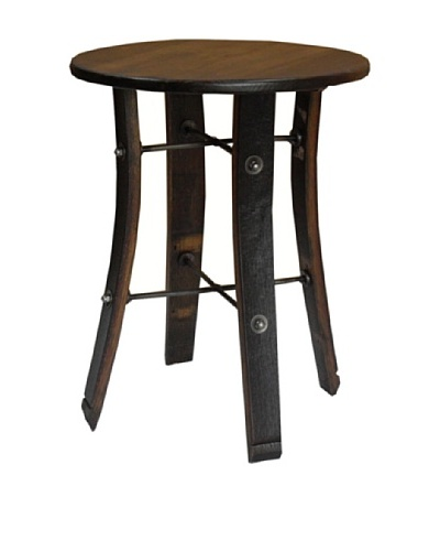 2 Day Designs Round Stave End Table, Pine