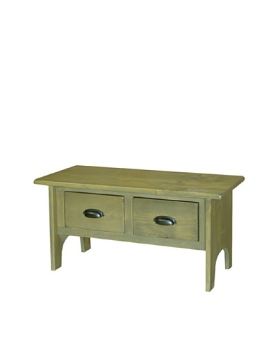 2 Day Designs Vermont Foyer Bench, Fern