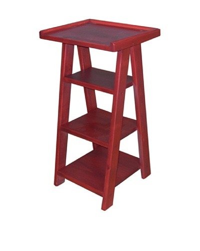 2 Day Designs Ladder Telephone Table, Rouge