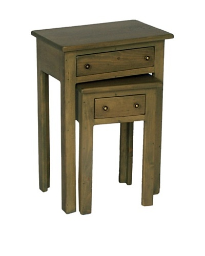 2 Day Designs Nesting Tables, Fern