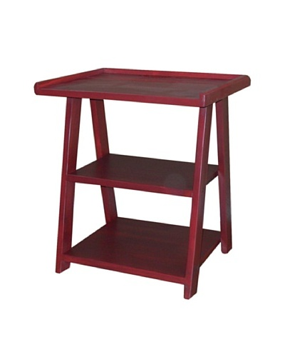 2 Day Designs Ladder Side Table, Rouge