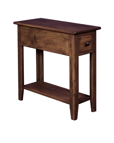 2 Day Designs Wing Back Side Table, Caramel