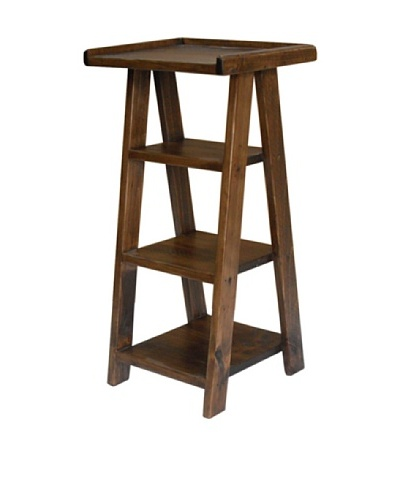 2 Day Designs Ladder Telephone Table, Caramel