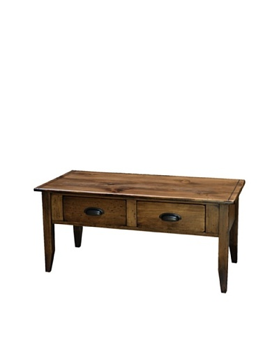 2 Day Designs Jefferson Coffee Table, Caramel