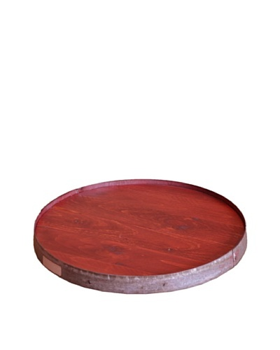 2 Day Designs Raised Ring Lazy Susan, Rouge