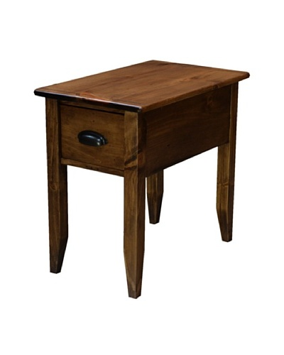 2 Day Designs Jefferson Side Table, Caramel
