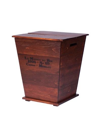 2 Day Designs Vineyard Cart End Table, Pine