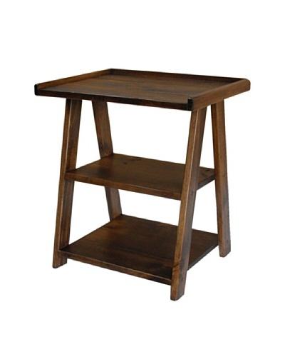 2 Day Designs Ladder Side Table, Caramel