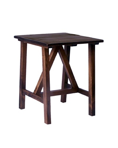 2 Day Designs Pine Creek End Table, Caramel