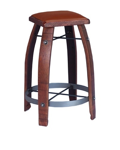 2 Day Designs Tan Leather Stool