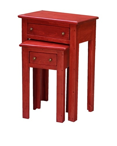 2 Day Designs Nesting Tables, Rouge