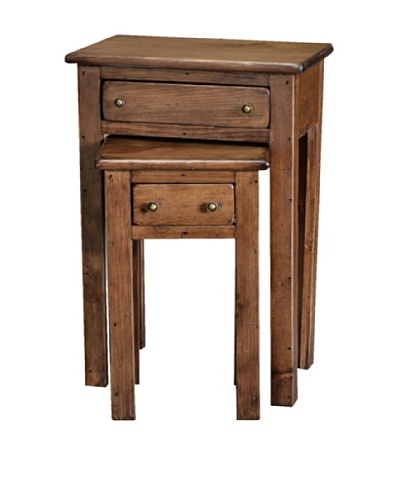 2 Day Designs Nesting Tables, Caramel