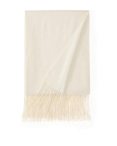 a & R Cashmere Waterweave Cashmere Throw, Crème Fraîche, 50 x 65
