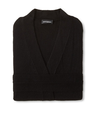 a & R Cashmere Wool-Blend Robe, Black