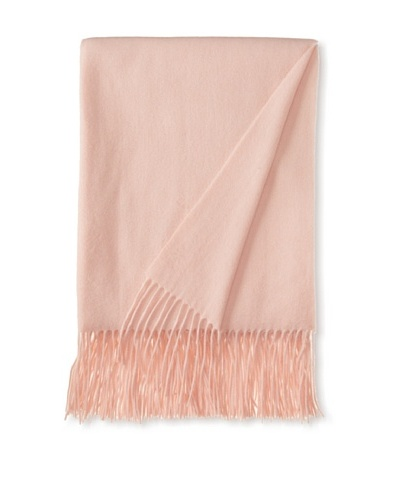 "a & R Cashmere Waterweave Cashmere Throw, Baby Pink, 50"" x 65"""