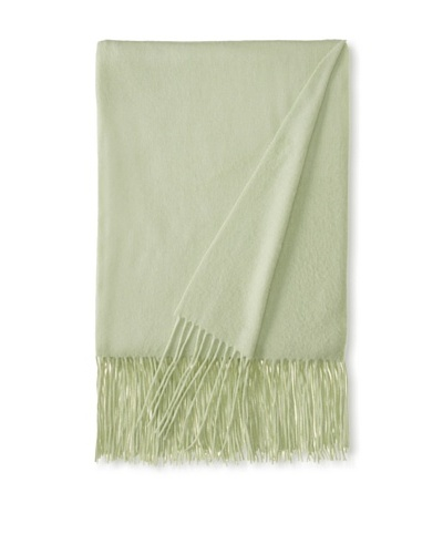 "a & R Cashmere Waterweave Cashmere Throw, Sea Foam Green, 50"" x 65"""