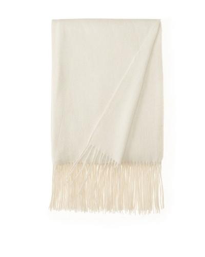 a & R Cashmere Wool & Cashmere Waterweave Throw, Crème Fraîche, 50 x 65