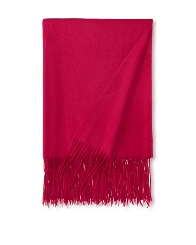 a & R Cashmere Waterweave Cashmere Throw, Raspberry, 50 x 65