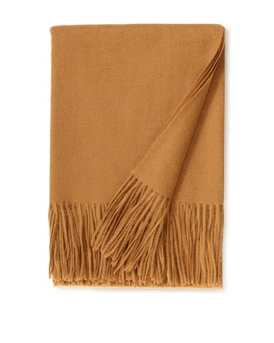 "a & R Cashmere Wool & Cashmere Waterweave Throw, Camel, 50"" x 65"""