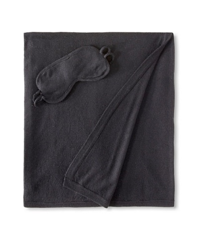 a & R Cashmere Wool-Blend Travel Set, Black