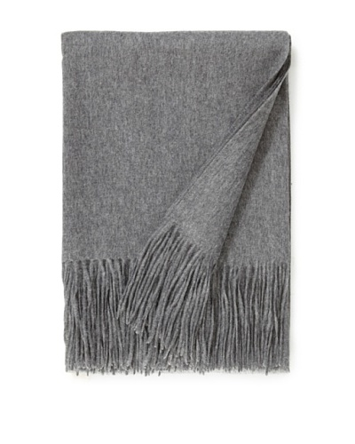 "a & R Cashmere Wool & Cashmere Waterweave Throw, Heather Grey, 50"" x 65"""