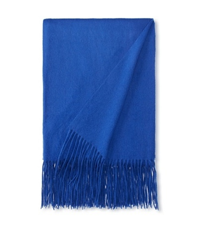 "a & R Cashmere Waterweave Cashmere Throw, Cobalt, 50"" x 65"""