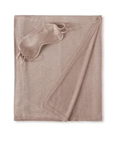 a & R Cashmere Wool-Blend Travel Set, Sand