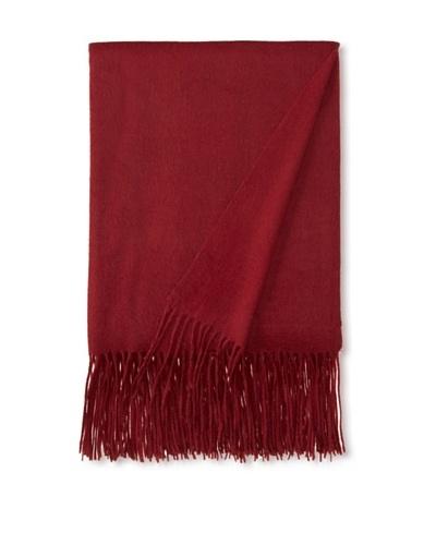 a & R Cashmere Wool & Cashmere Waterweave Throw, Merlot, 50 x 65