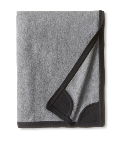 a & R Cashmere Equestrian Blanket, Heather Grey/Black