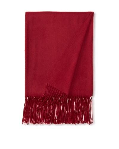 """a & R Cashmere Waterweave Cashmere Throw, Claret, 50"""" x 65"""""""