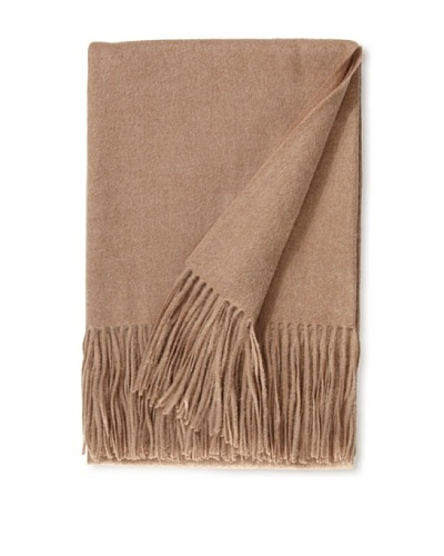 "a & R Cashmere Wool & Cashmere Waterweave Throw, Sand, 50"" x 65"""