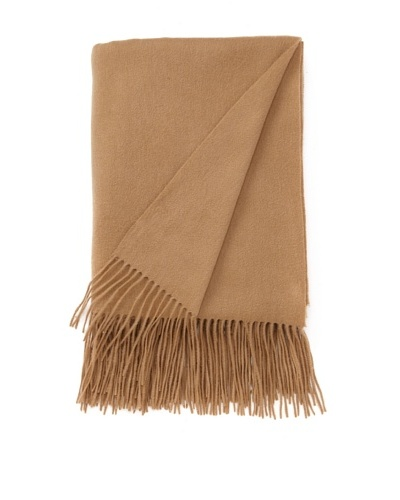 """a & R Cashmere Waterweave Cashmere Throw, Camel, 50"""" x 65"""""""