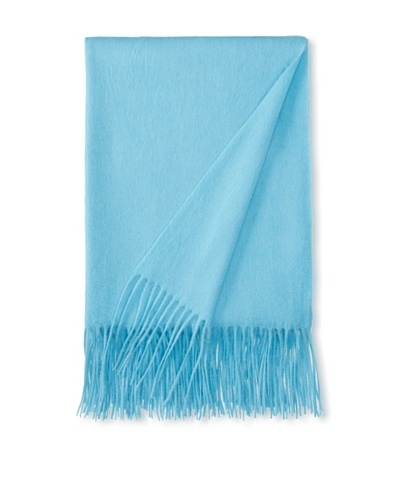 a & R Cashmere Wool & Cashmere Waterweave Throw, Tiffany, 50 x 65