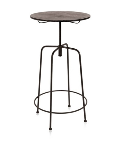UMA Metal Bar Table, Dark Wood