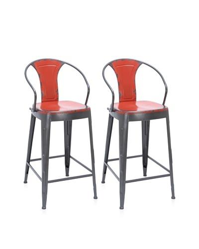 UMA Metal Bar Chair, Black/Red