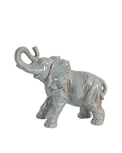 A&B Home Ceramic Elephant, Gray