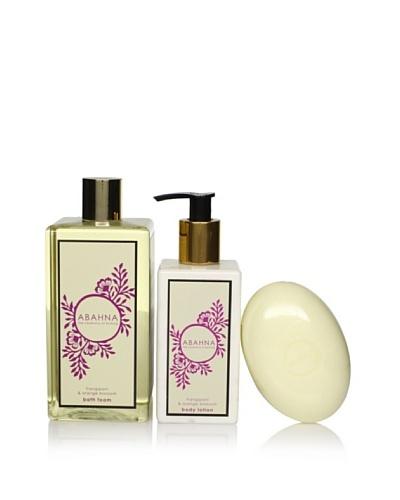 Abahna Soothing Frangipani & Orange Blossom 3-Piece Luxury Bath Set