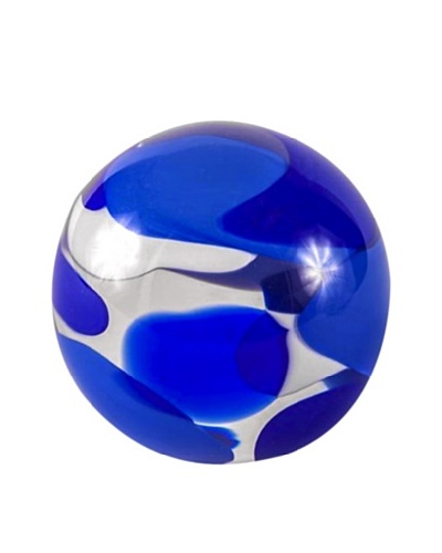 Abby Modell Small Paper Weight, Blue Swirl