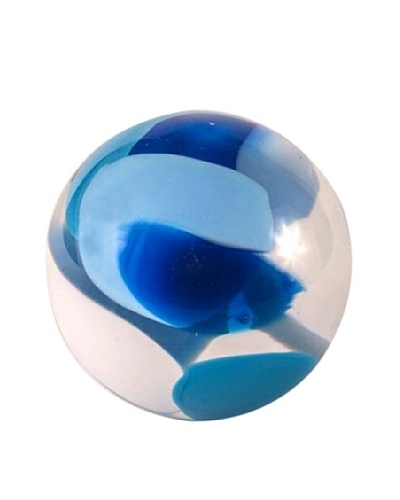 Abby Modell Small Paper Weight, Turquoise Splash Swirl