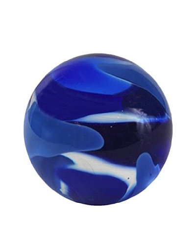 Abby Modell Small Paper Weight, Royal Blue Swirl