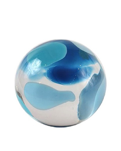 Abby Modell Small Paper Weight, Turquoise Swirl