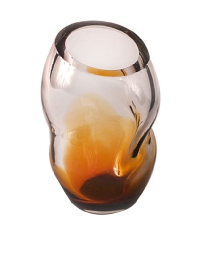 Abby Modell Twist Vase, Amber/Clear