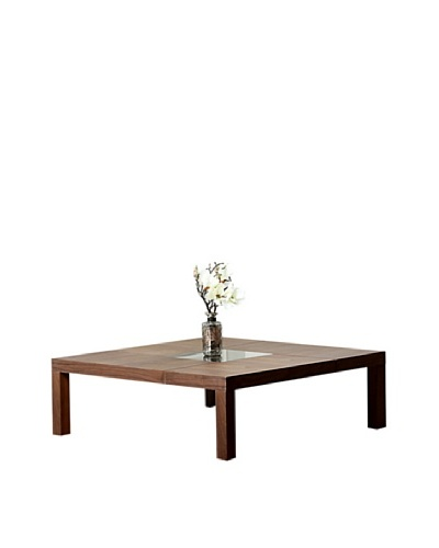 Abbyson Living Corbin Square Coffee Table, Walnut
