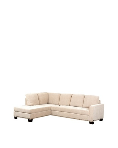 Abbyson Living Macalea Sectional, Cream