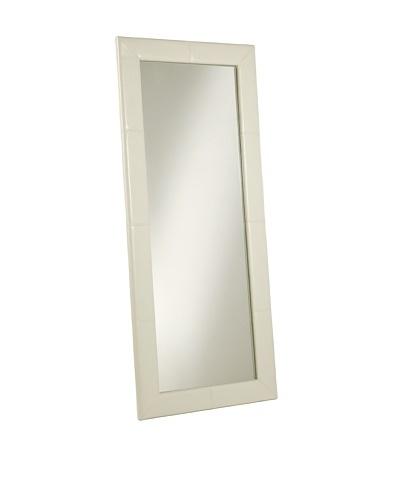 Abbyson Living Delano Large Floor Mirror, White