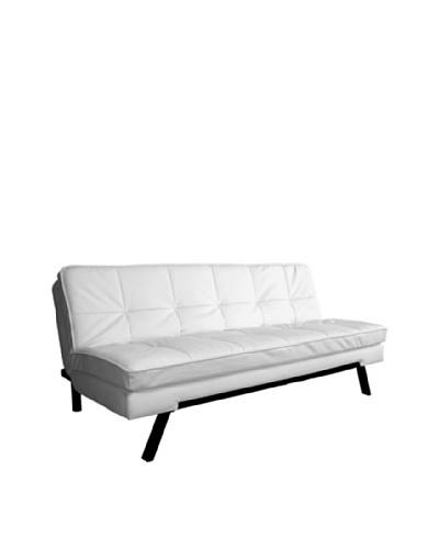 Abbyson Living Bradley Double-Cushion Convertible Sofa, Pure White