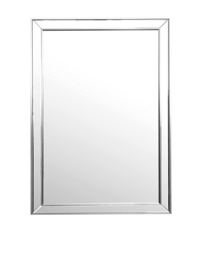 Abbyson Living Aria Rectangle Wall Mirror, Silver