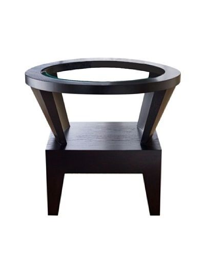 Abbyson Living Morgan Round Glass End Table