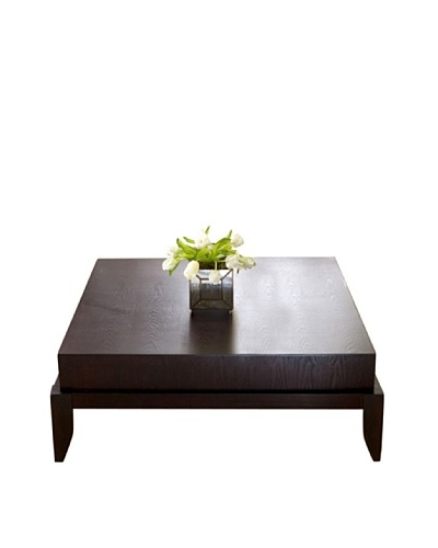 Abbyson Living Maytime Square Coffee Table, Rich Caramel